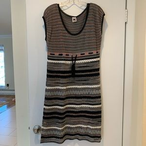 M Missoni Multi Color Cap-Sleeve Dress Size US 10